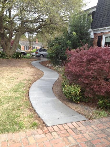 Winding Concrete Sidewalk Bay Colony Virginia Beach Virginia 23451